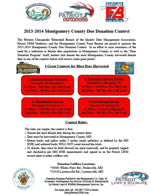 2013-2014 Montgomery County Doe Donation Contest